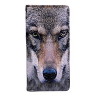 Portrait of a Wolf - Large Zipper Wallet