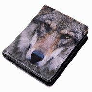 Portrait of a Wolf - Small Zipper Wallet