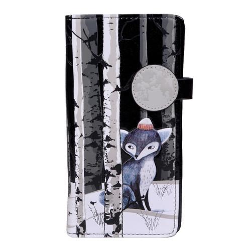 Sly Winter Fox - Large Zipper Wallet
