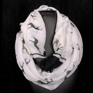 Reindeer Pattern - Infinity Scarf