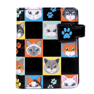 Cat Checkers - Small Zipper Wallet