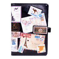 Vintage Postcard Collage - Passport Wallet