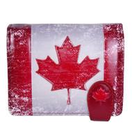 Canadian Flag - Small Zipper Wallet