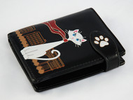 Cute Cat in Paris - Small Black Wallet