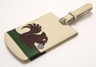 Nutty Squirrel Luggage Tag - Cream