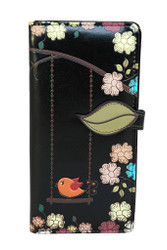 Swing Birds - Large Zipper Wallet