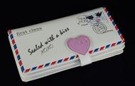 Vintage Love Letter - Large Zipper Wallet