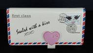 Vintage Love Letter - Large Zipper Wallet