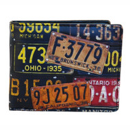 Vintage License Plates - Mens Wallet