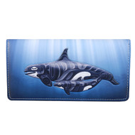 """Protection"" Killer Whales - Large Zipper Wallet"