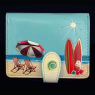 Beach Post Card - Small Zipper Wallet