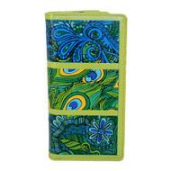 Abstract Peacock Pattern - Large Zipper Wallet