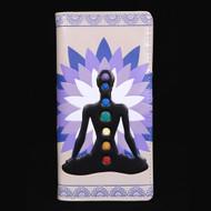Seven Chakras - Large Zipper Wallet