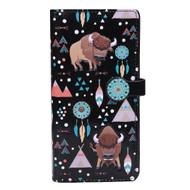 Buffalo Pattern - Large Zipper Wallet