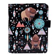Buffalo Pattern - Small Zipper Wallet