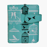 Vintage Bird Cage Pattern - Small Zipper Wallet