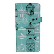 Vintage Bird Cage Pattern - Large Zipper Wallet