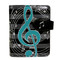 Musical Treble Clef - Small Zipper Wallet