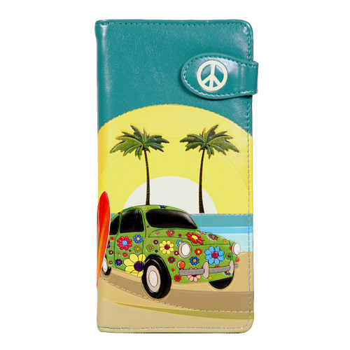 Groovy Surf Paradise - Large Zipper Wallet