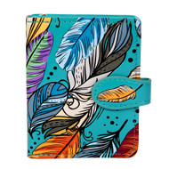Colorful Feather Pattern - Small Zipper Wallet