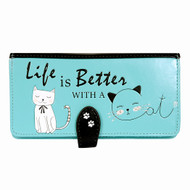 Life Is Better With A Cat - Large Zipper Wallet