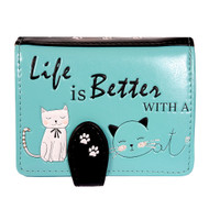 Life Is Better With A Cat - Small Zipper Wallet