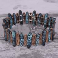 Oxidized Turquoise Patina Bracelet