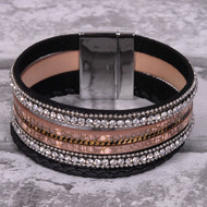 Brown and Black - Wrap Bracelet