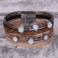 Southwestern Brown - Wrap Bracelet