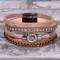 Brown Embellished - Wrap Bracelet