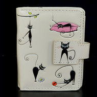 Crazy Cats - Small Zipper Wallet - Cream