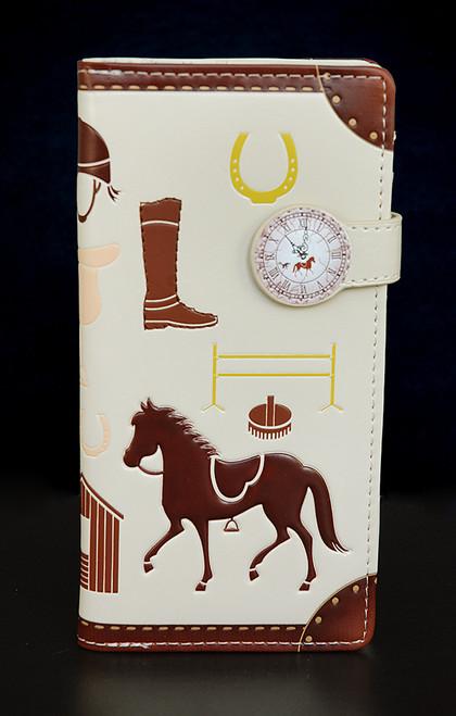 Unbridled - Horse Themed Equestrian - Large Zipper Wallet