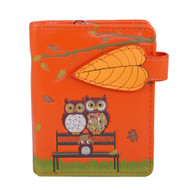 Park Bench Owls - Small Zipper Wallet