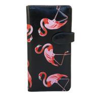 Pink Flamingos - Large Zipper Wallet
