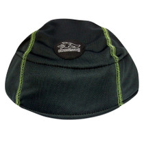 Bike Helmet Liner - Black with Lime Green stitching