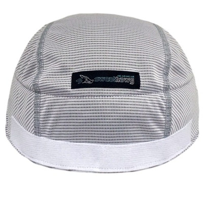Super absorbent Helmet Liner - hook and loop in white