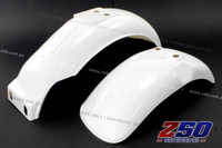 FRONT N REAR FENDER KIT (Z50J, PLASTICS WHITE)