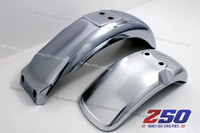 FRONT N REAR FENDER KIT (Z50J, STEEL CHROMED)