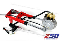 Front Fork Set - Disc Brake (Traditional Style in Red, with Hydraulic Disc Brake)