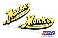 "Decal Sticker ""Monkey"" (Gold Colour)"