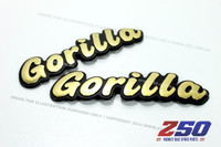 "Decal Sticker ""Gorilla"" (Gold Colour)"