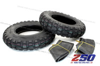 "(2pcs) Tyre & Tube (3.50-8"", Off-Road Tyre)"