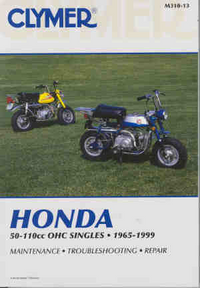 Clymer Workshop Manual - Honda Z50A, Z50R, Ct70, CL70, S90, ST90, C90, CT90, CT110