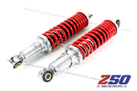 Rear Shock Absorber (285mm C-C, Adjustable Heavy Duty Mono Shock, Red)