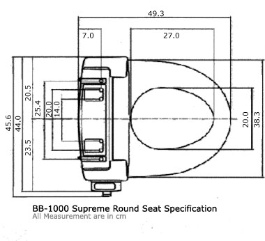 Bidets2go BB-1000 Product Dimensions