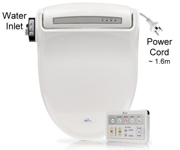 Bidets2go Bio Bidet View of Water Inlet and Power Cord