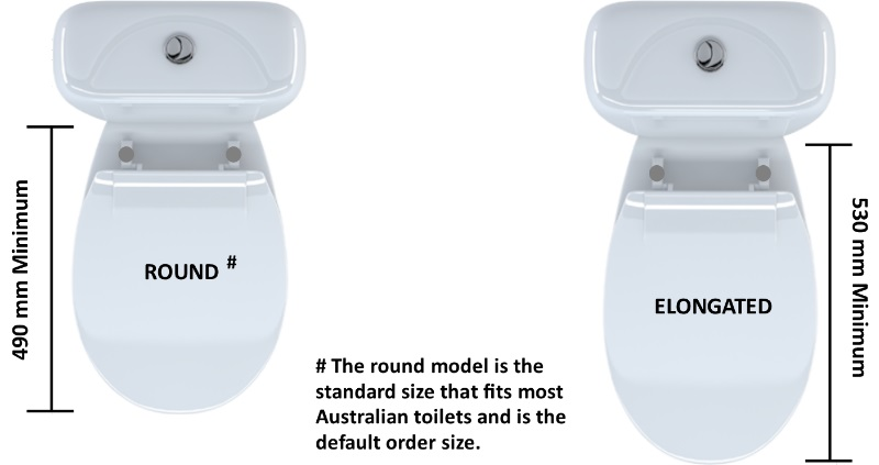 elongated toilet seat dimensions. round vs elongated toilet seat designs dimensions