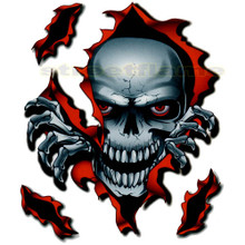 Ripping Skull Decal for Motorcycle Windscreens