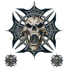 Skull with Spikes on Iron Cross Decals