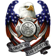 American Fire Department Eagle Decal